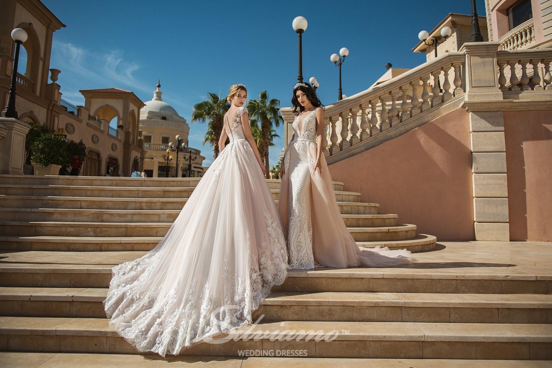 Весільні сукні зі шлейфом Silviamo