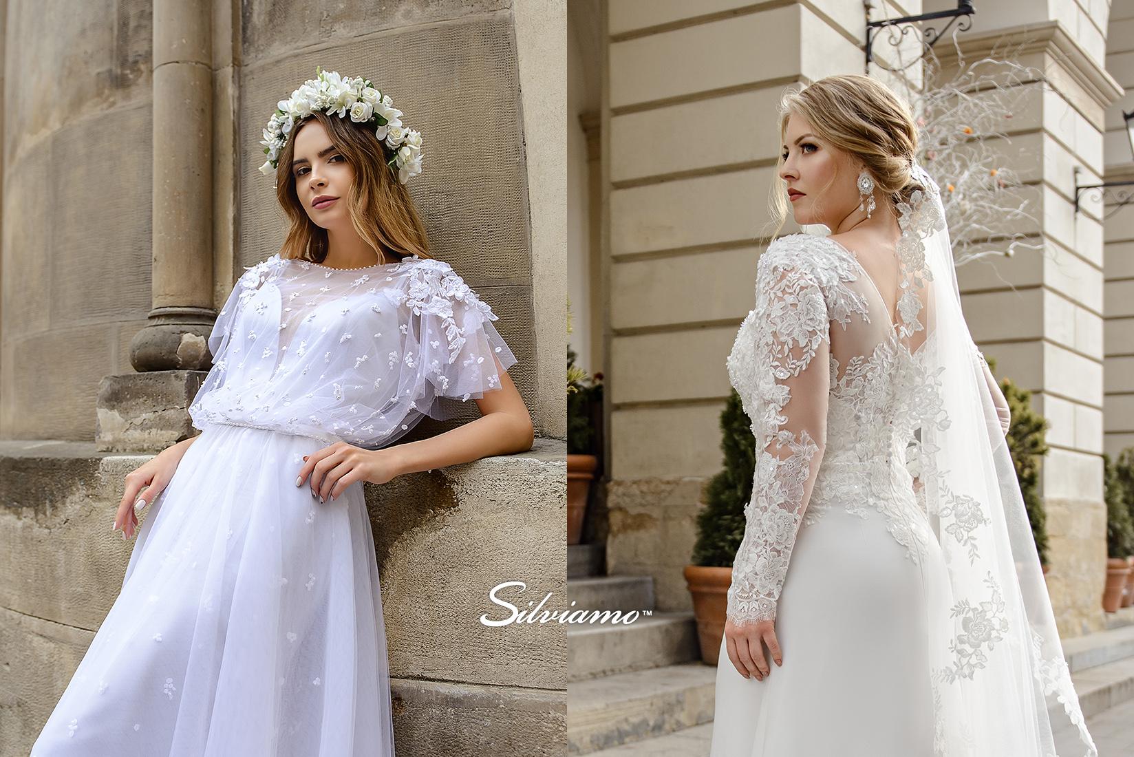 adf7f0fa77c302 Сучасні весільні сукні оптом від виробника Silviamo