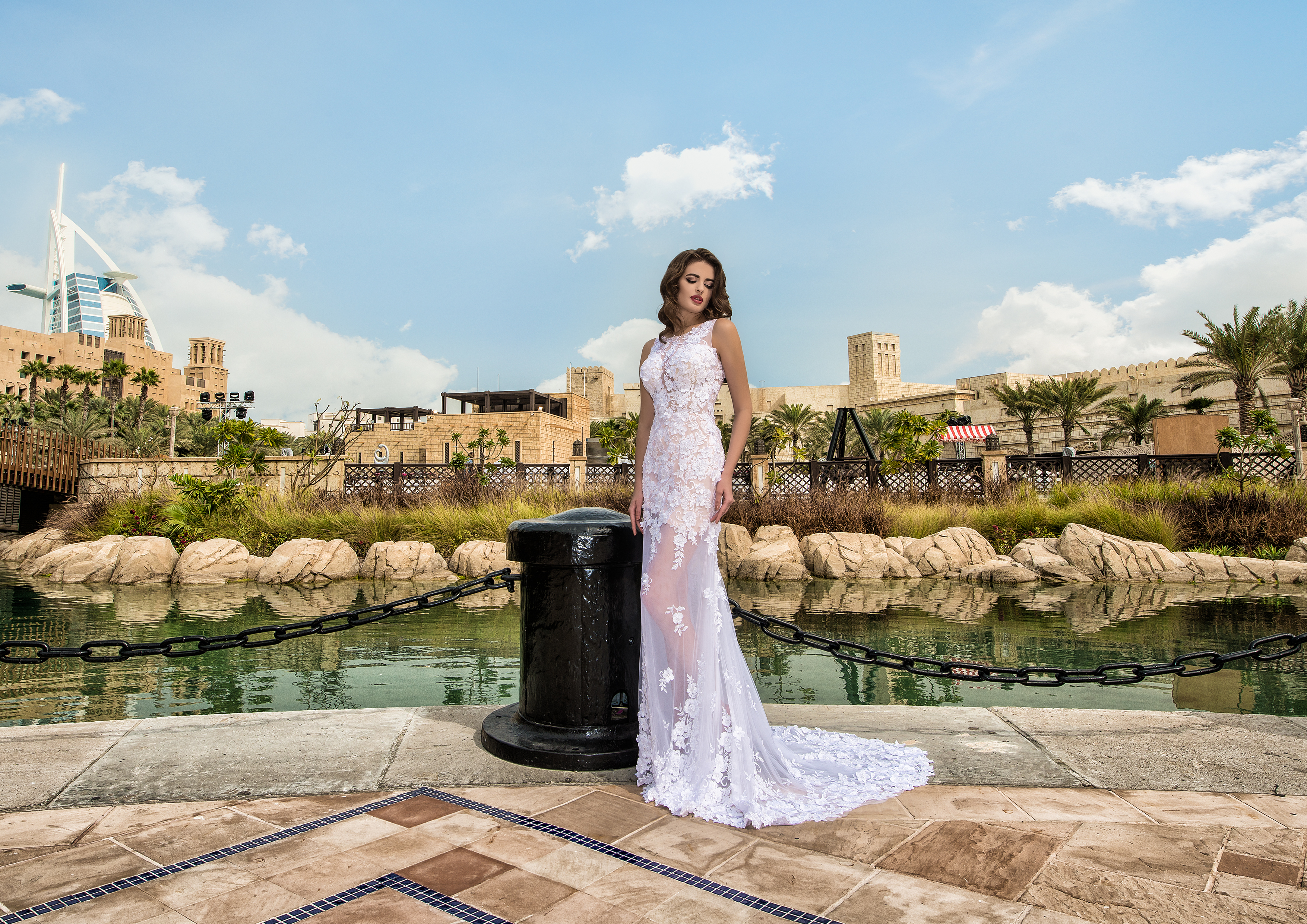 Godet wedding dress-1