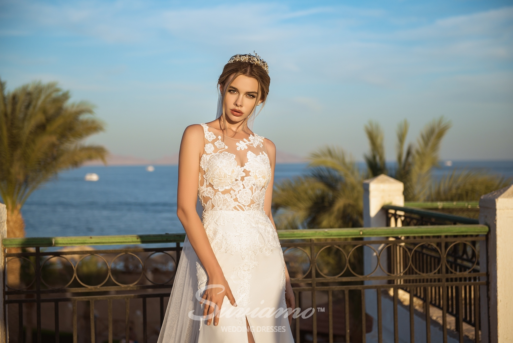 Wedding dress with a soft bodice-1