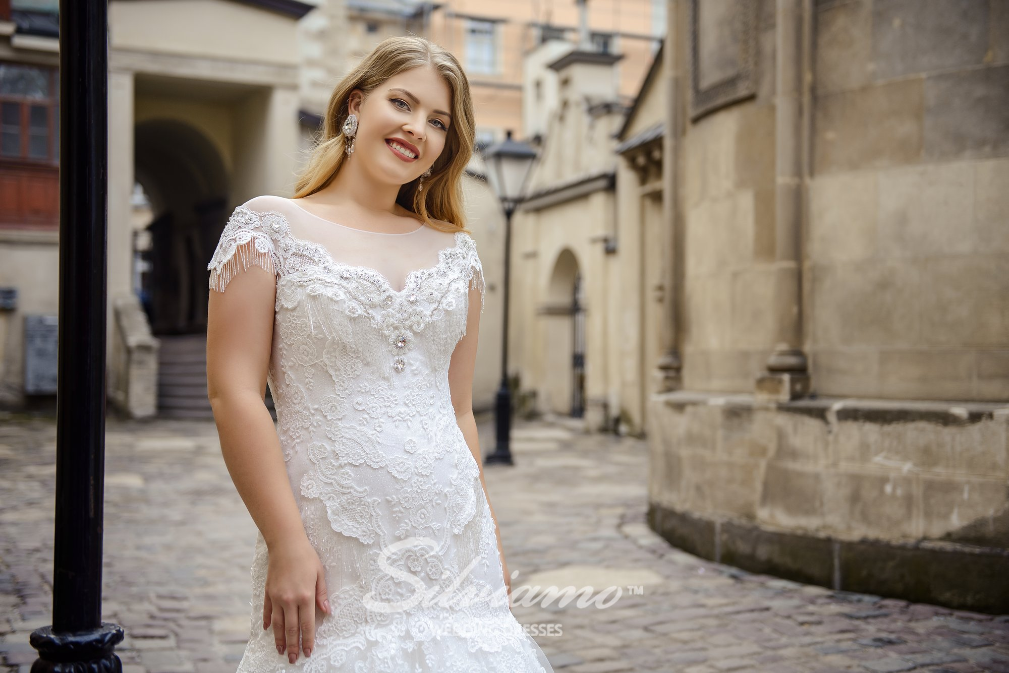 Plus size wedding dress of