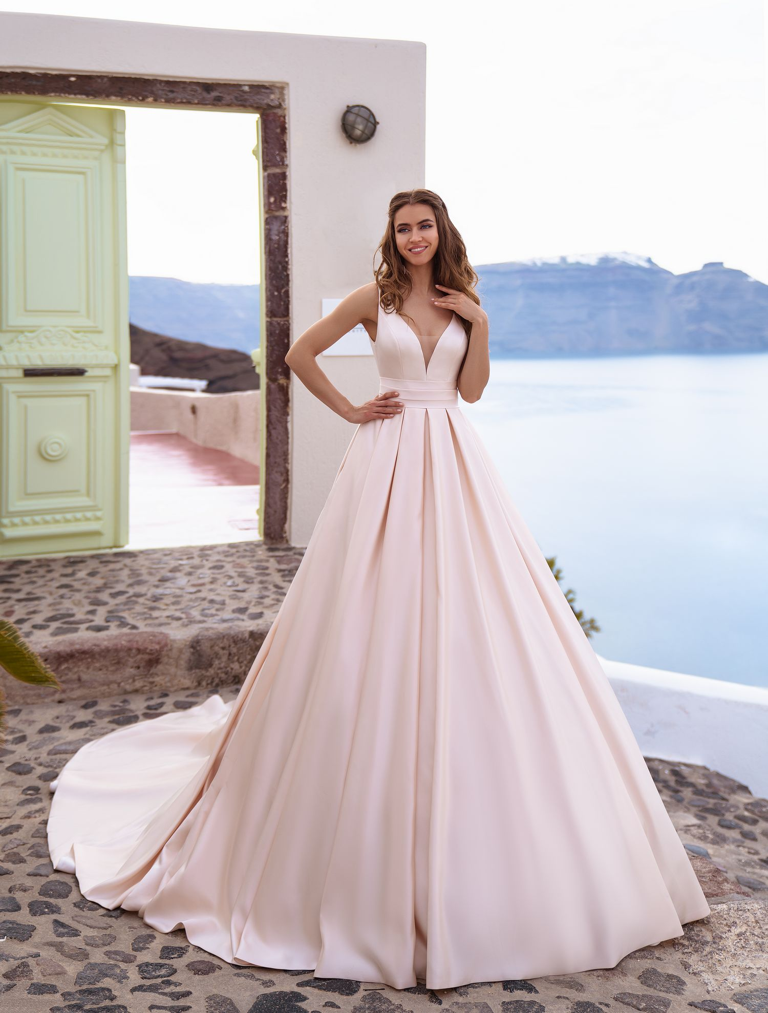 Wedding dress in the style of