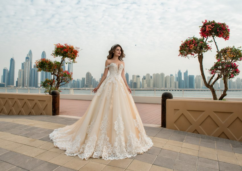 Wedding dress with a full skirt Alexis-2
