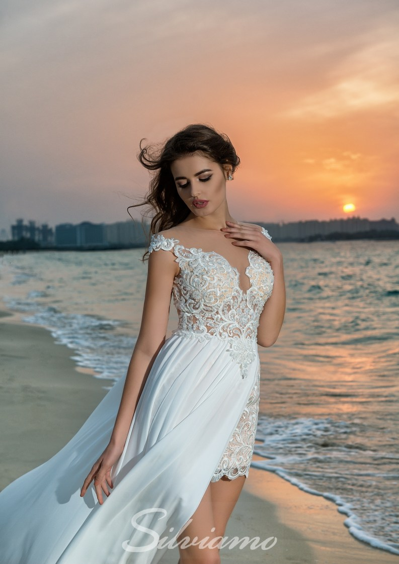 Sheer bodice wedding dress-4