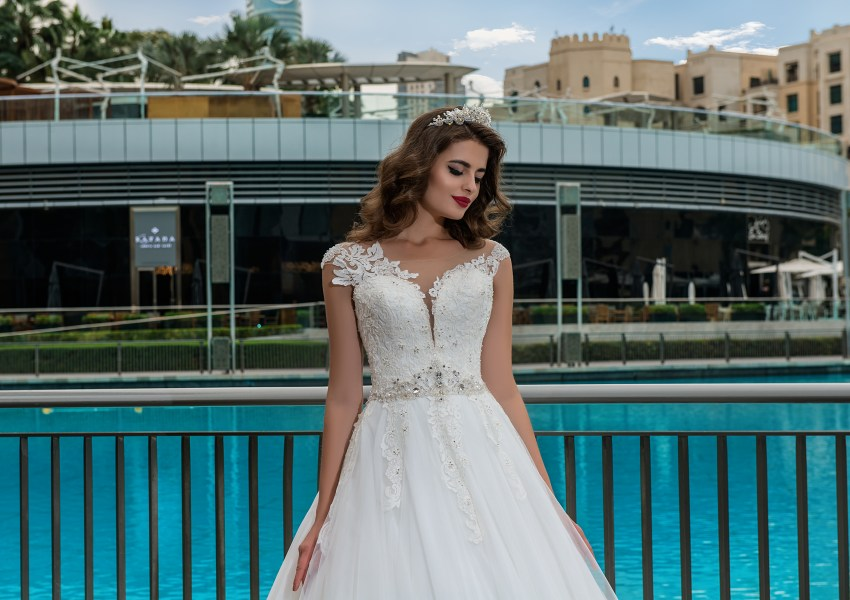 Wedding dress with pearls Adelaida-2