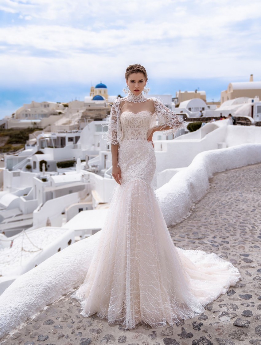 Wedding dress fish with the cape from TM Silviamo wholesale-3