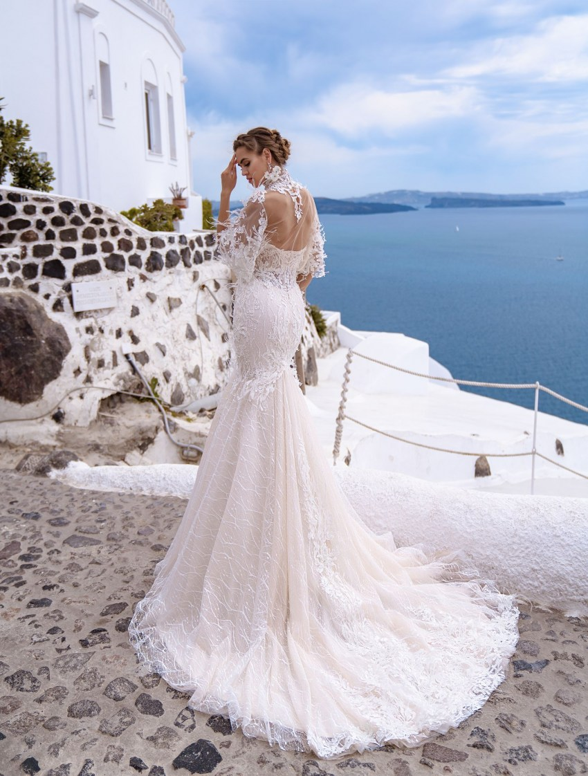 Wedding dress fish with the cape from TM Silviamo wholesale-4