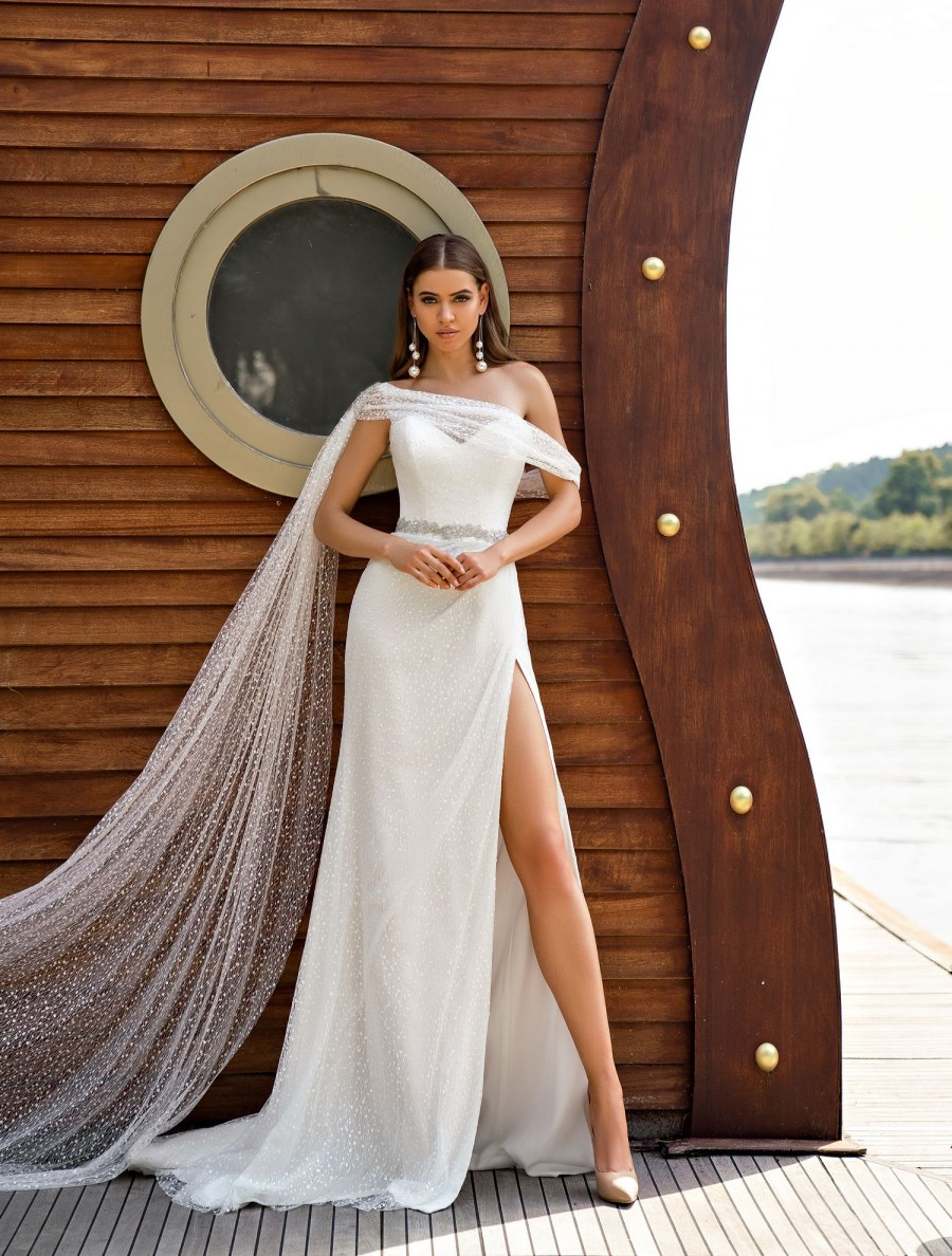 One shoulder wedding dress wholesale from Silviamo-3