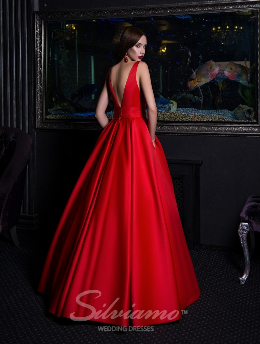Evening dress with flared skirt-5