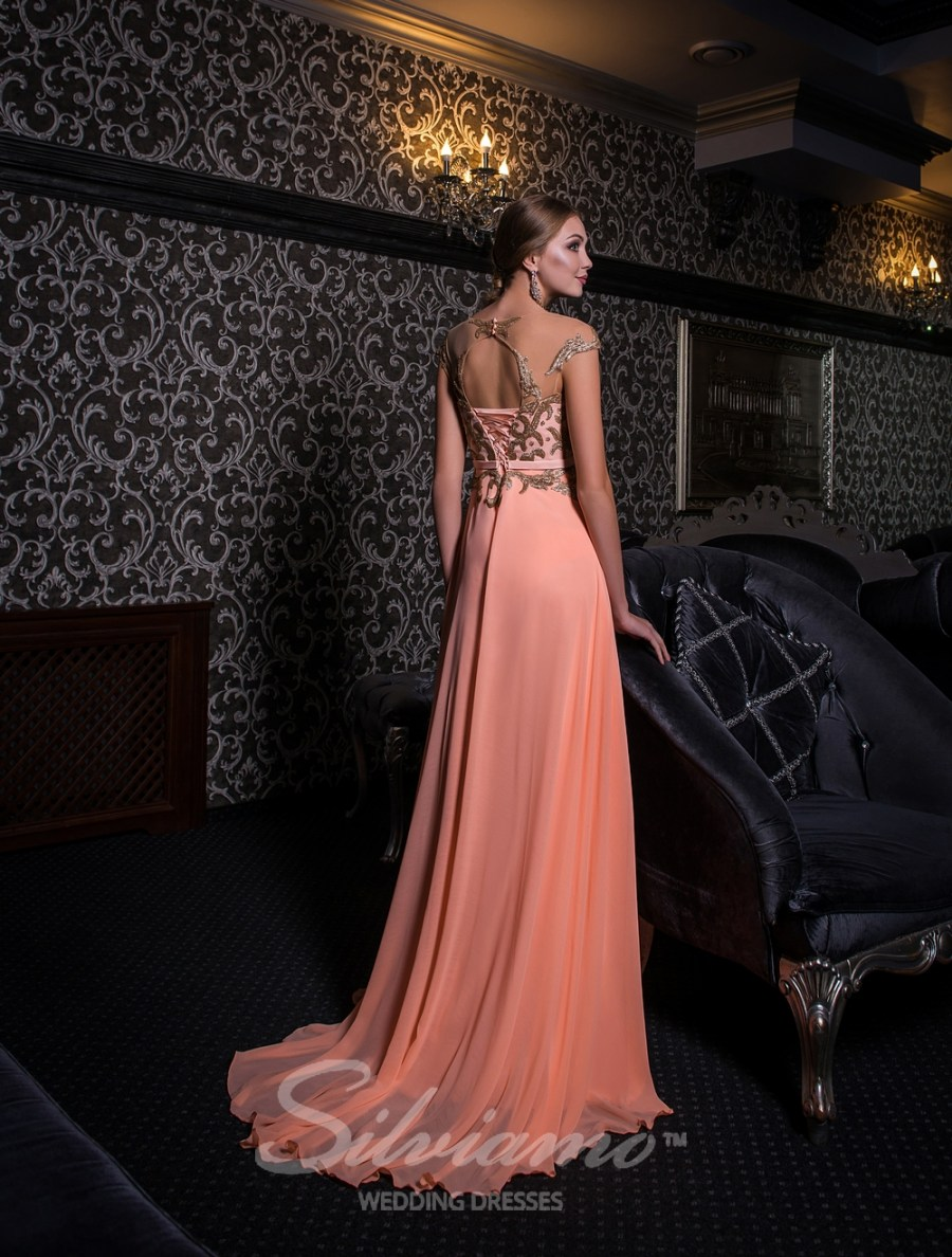 Evening dress with gold sequins-4