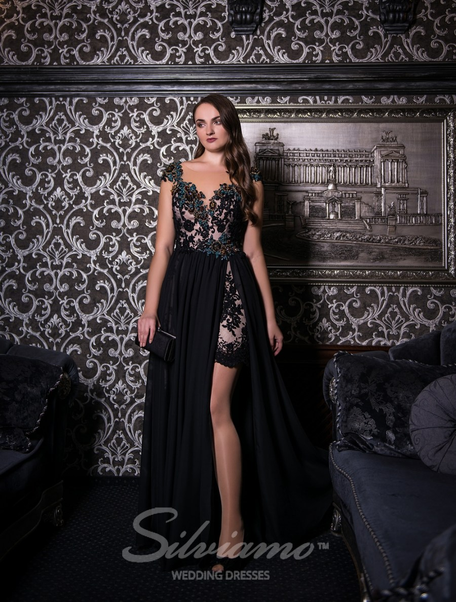 Evening dress with two front cutouts-2