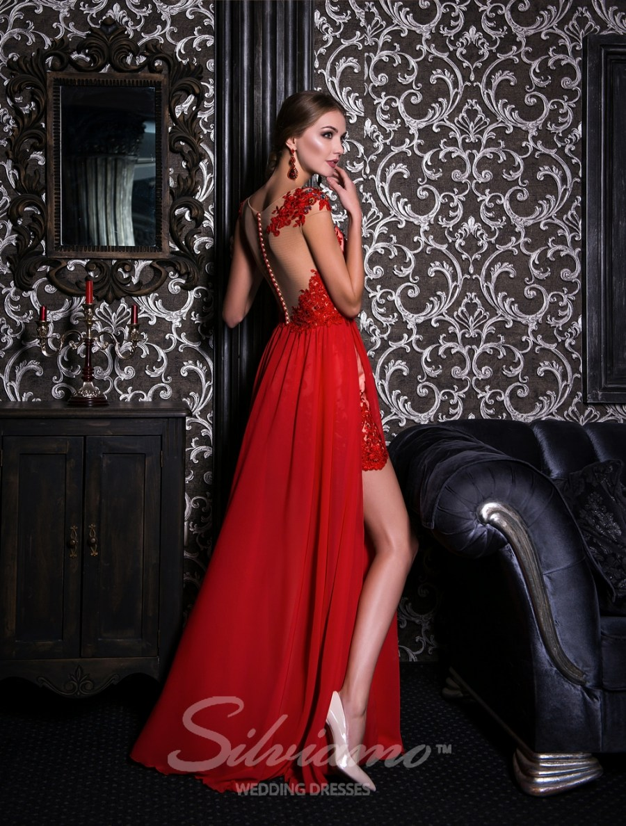 Evening dress with two front cutouts-4