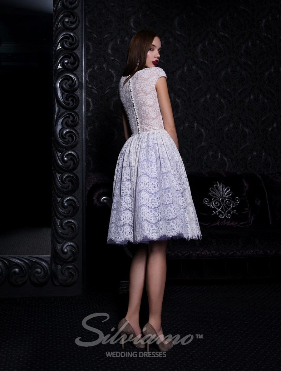 Short evening dress with a puffy skirt-4
