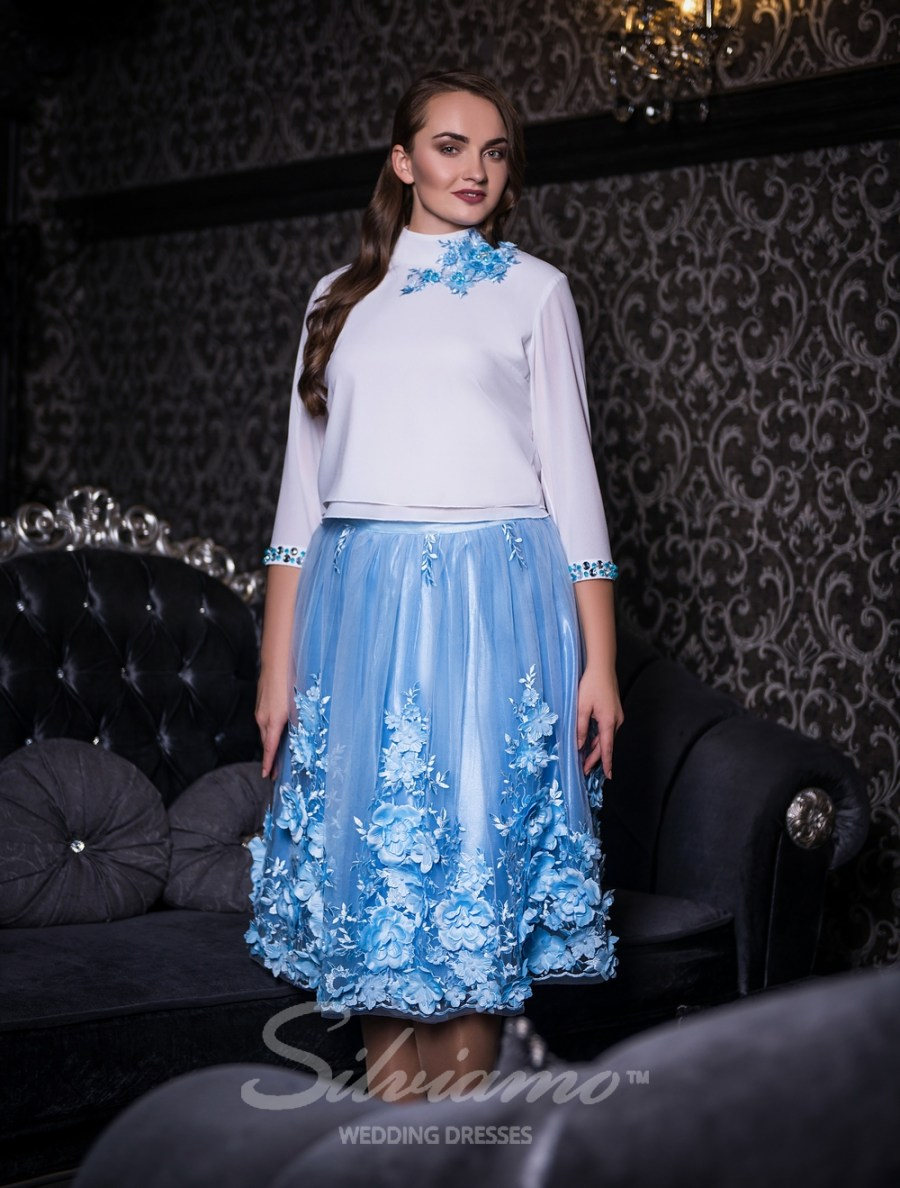Evening outfit of a blouse and a puffy skirt-2