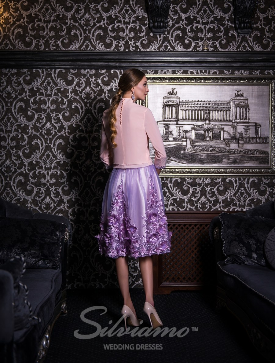 Evening outfit of a blouse and a puffy skirt-4