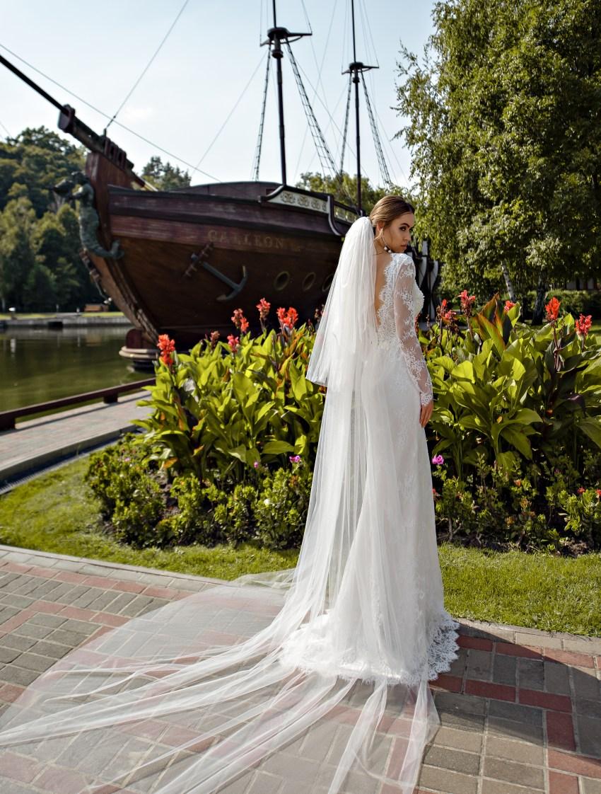 Классическая свадебная фата оптом от компании Silviamo-3