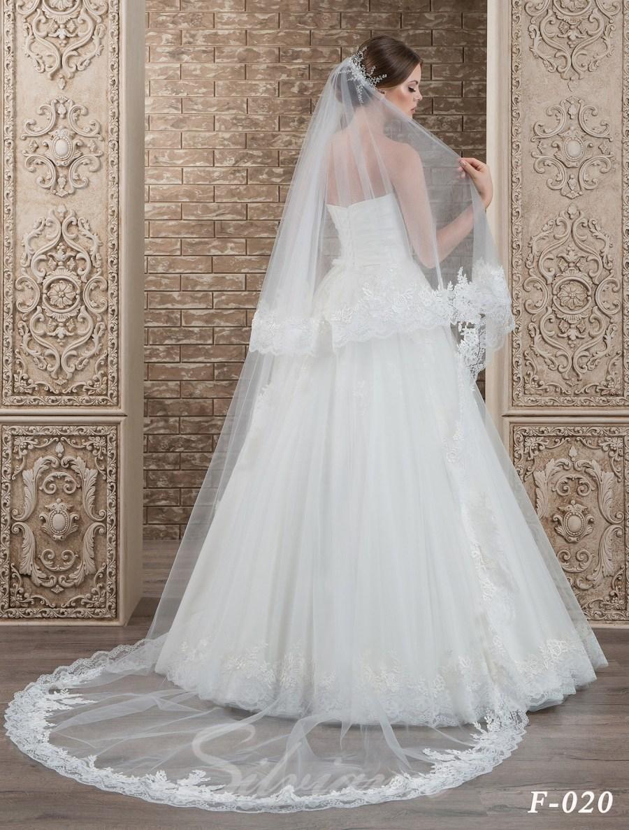 The fatin cuffed veil model F-020-2