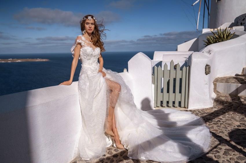 Пышное блестящее свадебное платье от Silviamo оптом-4