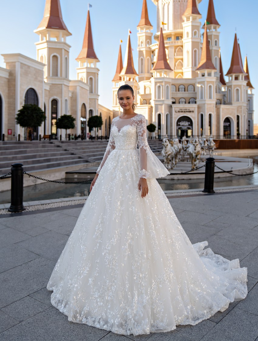 Wedding dress with long sleeves-2