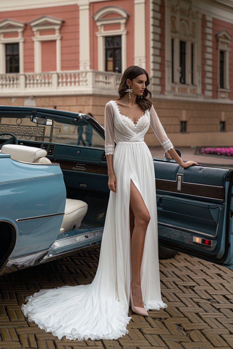 Boho wedding dress by Silviamo S-561-IONA
