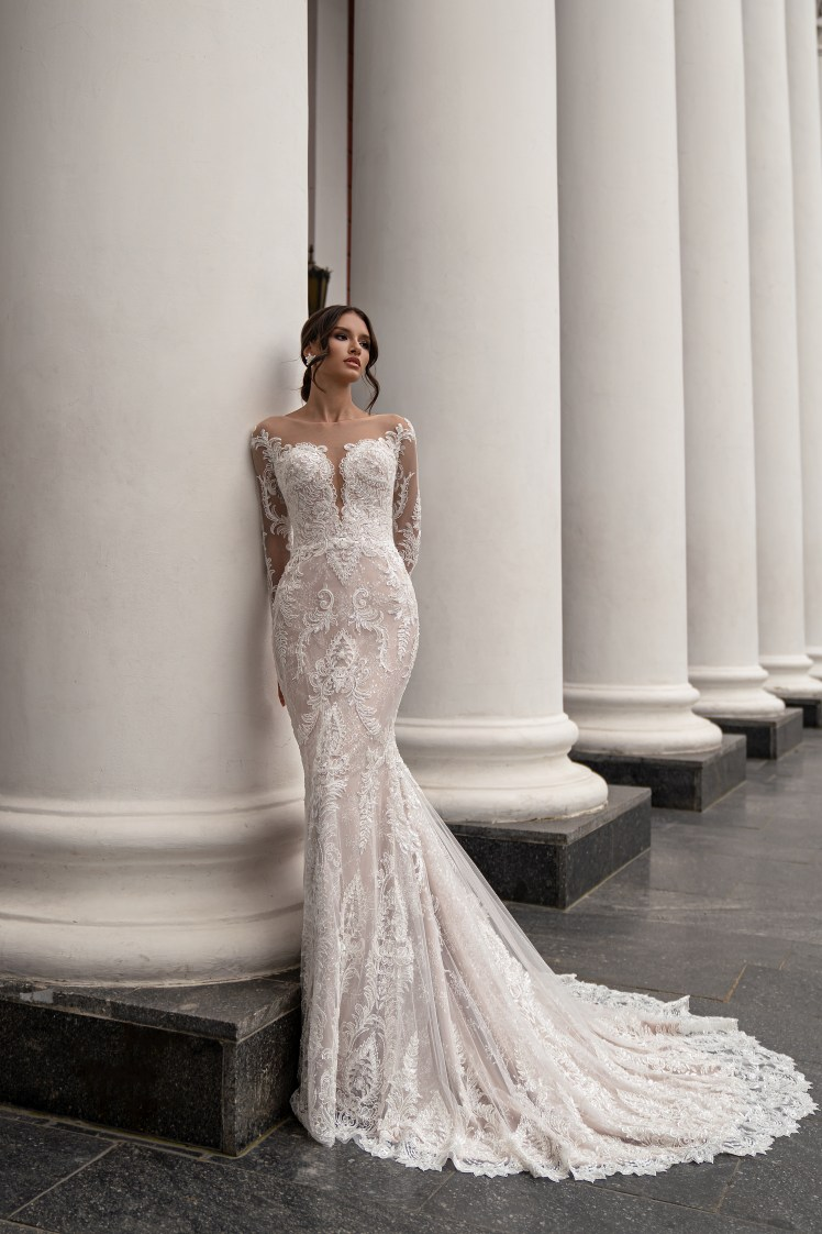 Long Sleeve Wedding Dress by Silviamo S-564-ILONA