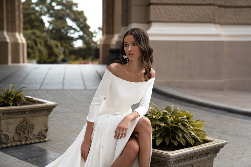 Silviamo rochie de mireasă pe umăr-2
