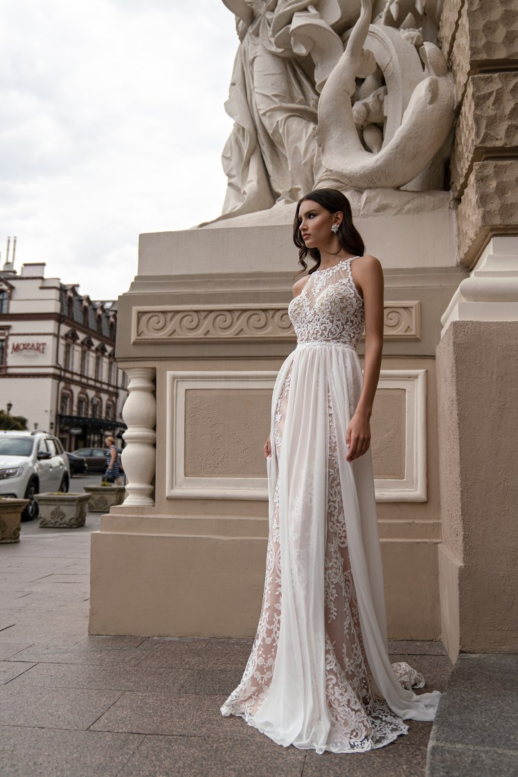 Boho wedding dress by Silviamo S-571-ISHA