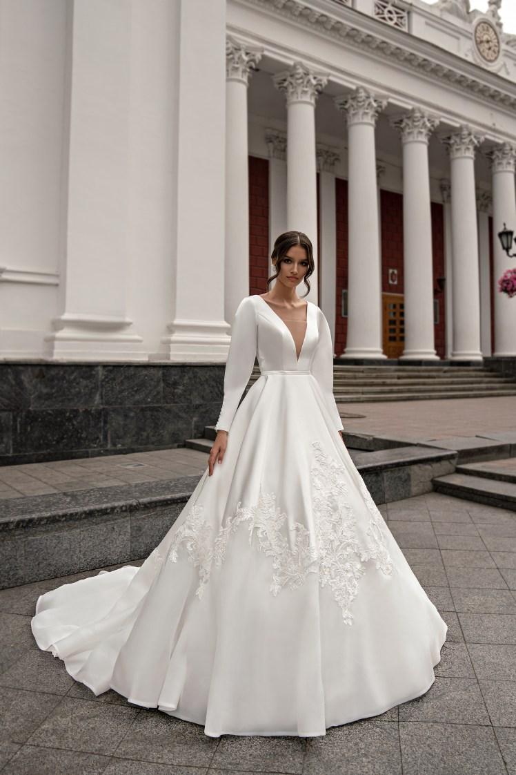 Весільна сукня з довгими рукавами оптом від Silviamo-2