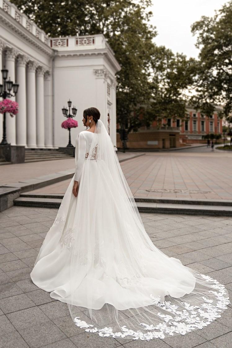 Весільна сукня з довгими рукавами оптом від Silviamo-5