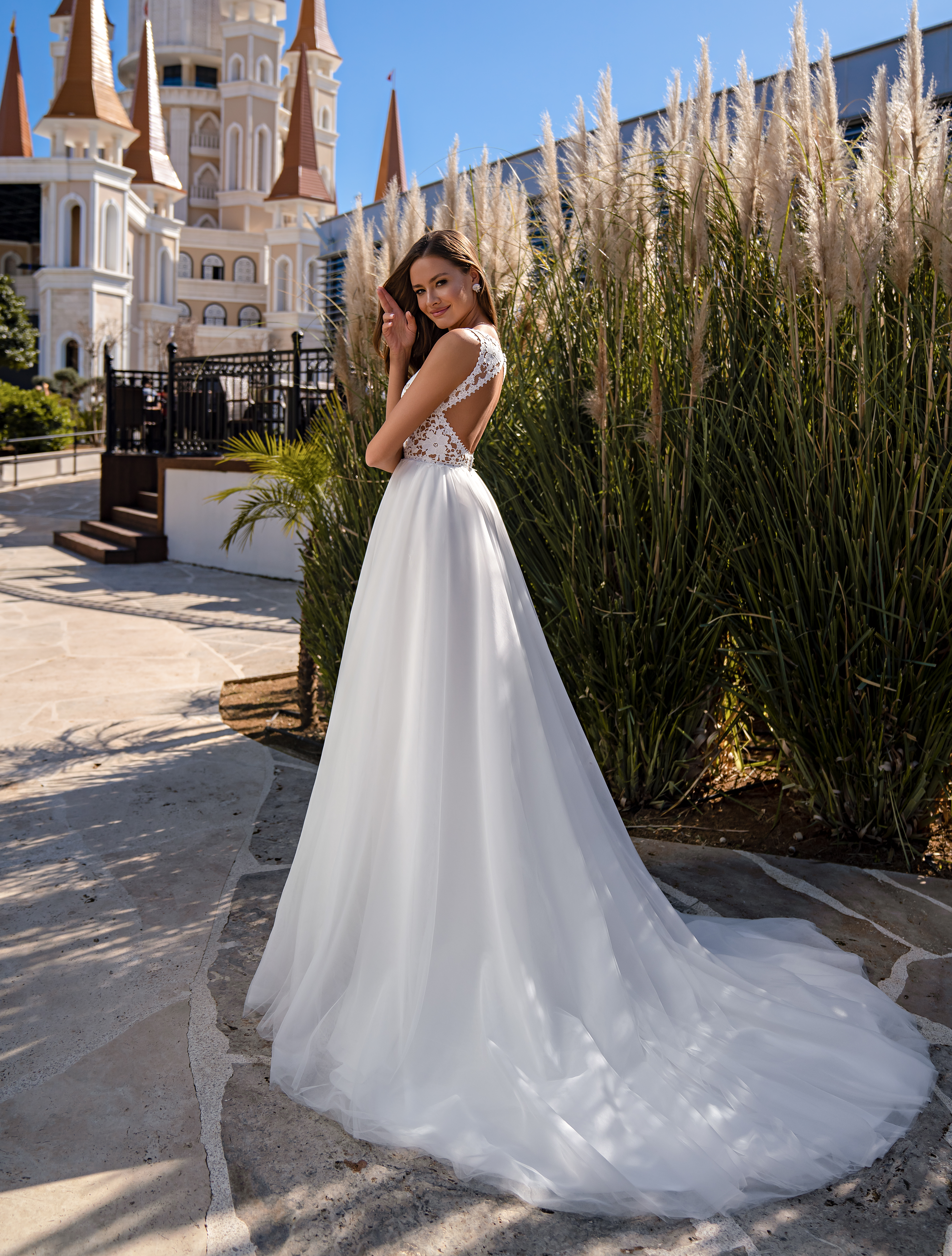 Wedding dress in the