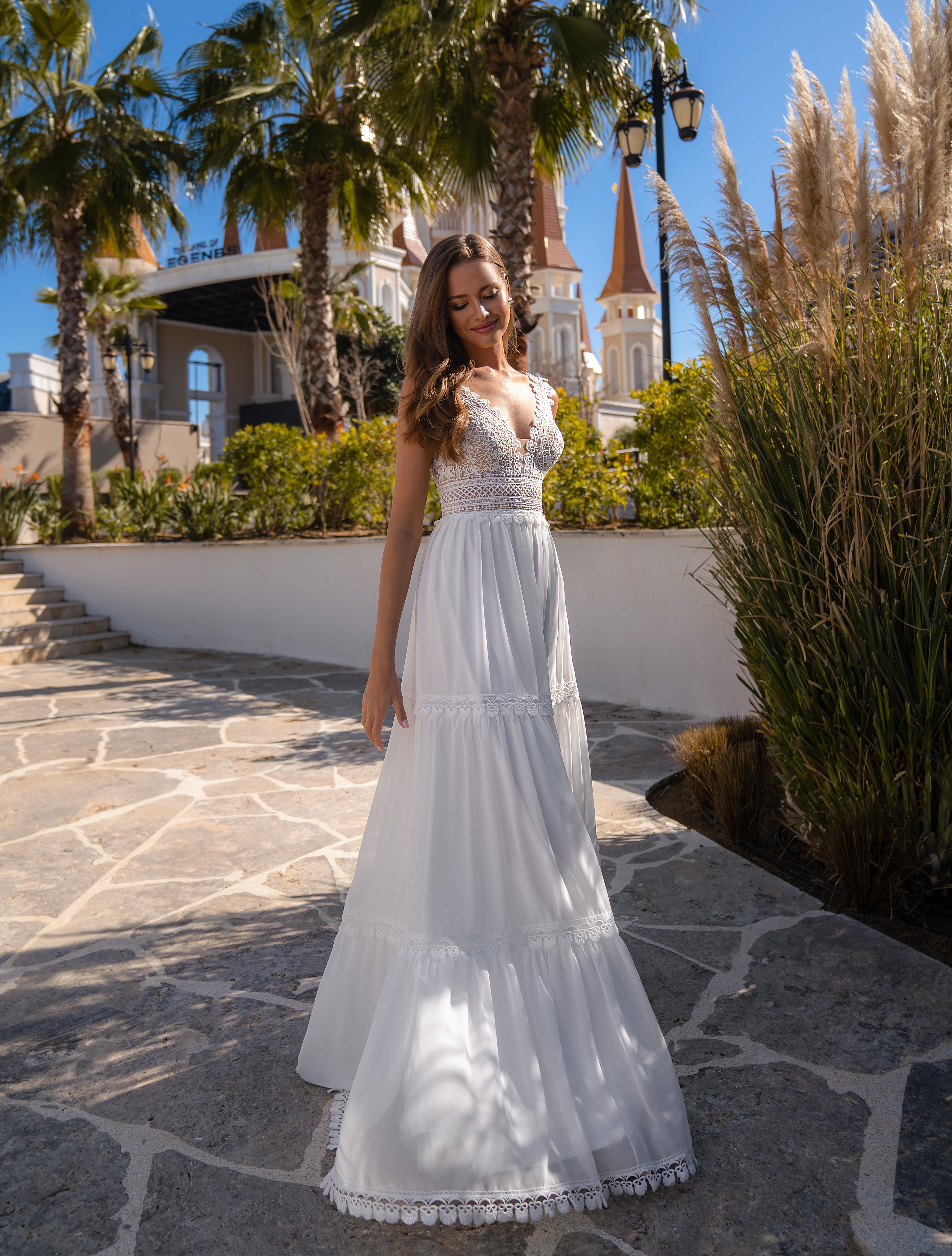 Wedding dress in the trendy